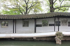 Klooster in Zhuozheng-Tuin, Suzhou China Stock Foto