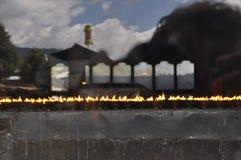 Kloosterkaarsen in Bhutan Stock Foto