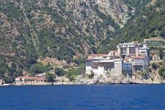 Kloosters op Onderstel Athos Stock Afbeeldingen