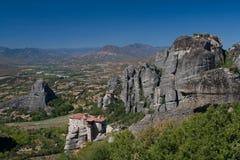 Kloosters van meteora Griekenland Stock Afbeeldingen