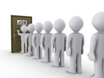 Klopfen auf Tür für Job Lizenzfreie Stockfotos