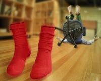 Klopfen Sie Ihre Socken weg Lizenzfreies Stockbild