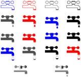 Klopfen Sie unterschiedliche Farbe - gesetzte Ikonen stockbild