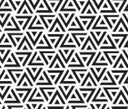 KLOPFENDES GESTREIFTES DREIECK Geometrisches nahtloses Vektormuster abstrakter Hintergrund lizenzfreies stockbild