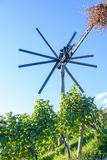 Klopotec, route slovène de vin de moulin à vent traditionnel authentique et attraction locale uniques en Slovénie Photographie stock libre de droits
