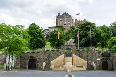 Klopp castle in Bingen am Rhein in Rhineland-Palatinate, Germany royalty free stock image