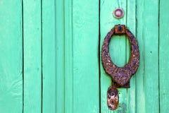 klopperslanzarote abstract deurhout in green Royalty-vrije Stock Afbeelding