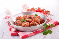 Klopsik z pomidorowym kumberlandem Obraz Stock