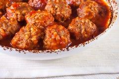 Klopsiki w pomidorowym kumberlandzie Obrazy Royalty Free