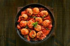 Klopsiki z pomidorowym kumberlandem Zdjęcie Royalty Free