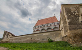 Klosdor. Nicholas Church in Klosdorf Romania Royalty Free Stock Images