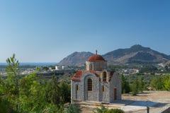 Kloster Afantou Rhodos Stockfoto