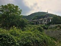 Kloster in Agion Oros stockfotos