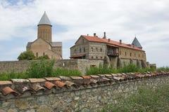 Kloster Alawerdi, Kakheti, Georgia, Europa Royaltyfria Foton