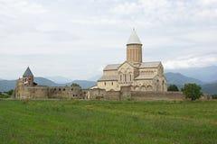 Kloster Alawerdi, Kakheti, Georgia, Europa Arkivbild