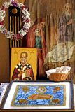 Kloster-Altar lizenzfreie stockfotografie