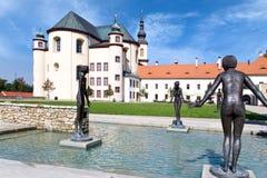 Kloster arbeta i trädgården, Litomysl, (UNESCO), Tjeckien, Europa Royaltyfri Bild