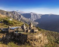 Kloster-armenischer Klosterkomplex Tatev der späten Jahrhunderte IX-early X in Sjunik-Region stockfotos