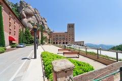 Kloster auf Montierung Montserrat in Spanien Lizenzfreie Stockbilder