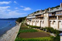 Kloster auf Mount Athos Lizenzfreies Stockfoto