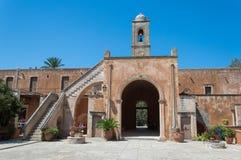 Kloster av Agia Triada i Kreta, Grekland Arkivfoton