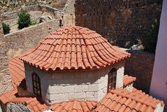 Kloster av Agios Panteleimon, Tilos arkivbilder