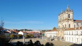 Kloster av Alcobaca, Alcobaca, Portugal Arkivbilder