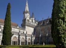 Kloster av Batalha portugal Arkivfoton