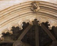 Kloster av Batalha portugal Arkivfoto