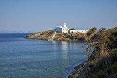 Kloster av Chrissopigi i Sifnos Royaltyfria Bilder