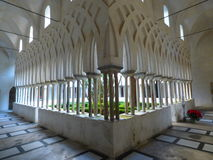 Kloster av den Amalfi domkyrkan arkivfoto