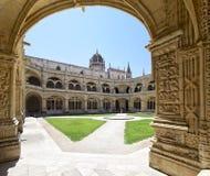 Kloster av den Jeronimos kloster, i Belem, Lissabon Royaltyfri Bild
