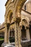 Kloster av den Monreale abbotskloster, Palermo Fotografering för Bildbyråer