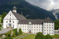 Kloster av Engelberg på Schweiz Arkivfoton