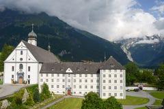 Kloster av Engelberg på Schweiz Royaltyfria Bilder