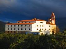 Kloster av Flores, skyddshelgon av Alora Royaltyfria Foton