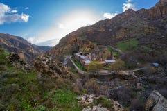 Kloster av Geghard Royaltyfri Fotografi