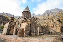 Kloster av Geghard i Armenien arkivbilder