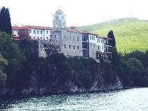 Kloster av helgonet Naum Royaltyfria Bilder
