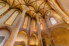 Kloster av Jacobinsen i Toulouse, Frankrike Arkivbild