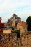 Kloster av Kristus, Tomar, Portugal Arkivfoton