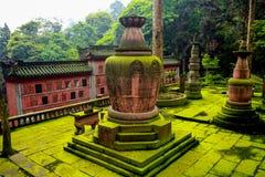 Kloster av monteringsEmai Shan Royaltyfri Foto