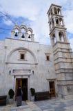 Kloster av Panagia Tourliani i Ano Mera, Mykonos, Cyclades, G Royaltyfria Foton