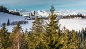 Kloster av Pietralba nära Monte San Pietro, Nova Ponente, södra Tyrol, Italien Den viktigaste fristaden av södra Tyrol Winte Fotografering för Bildbyråer
