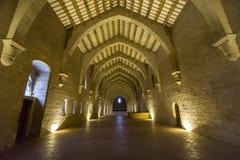 Kloster av Poblet, Tarragona, Spanien Arkivfoton