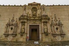 Kloster av Poblet, Tarragona, Spanien Arkivbilder