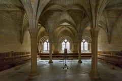 Kloster av Poblet, Tarragona, Spanien Fotografering för Bildbyråer