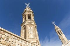 Kloster av purpurfärgade Gabriel Mardin Turkey arkivfoto
