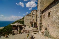 Kloster av Saint Paul, Mount Athos royaltyfri fotografi