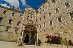 Kloster av Saint Paul, Mount Athos royaltyfria foton